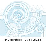 vector draft background with a... | Shutterstock .eps vector #375415255