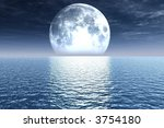 full moon | Shutterstock . vector #3754180