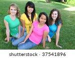 smiling happy pretty girl... | Shutterstock . vector #37541896