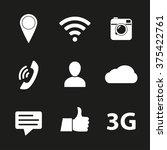 social network icon set. media... | Shutterstock . vector #375422761