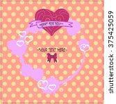 vector background. hearts. | Shutterstock .eps vector #375425059
