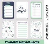 set of vintage creative cards... | Shutterstock .eps vector #375425845