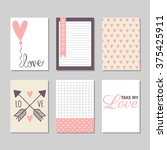 set of valentine's day cards... | Shutterstock .eps vector #375425911
