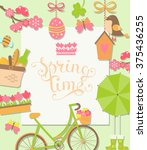 spring background with... | Shutterstock .eps vector #375436255