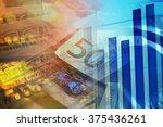 financial graph on a monitor | Shutterstock . vector #375436261