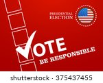voting symbols design... | Shutterstock .eps vector #375437455