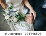 wedding. the girl in a white... | Shutterstock . vector #375446509