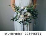 bridal bouquet. wedding. the... | Shutterstock . vector #375446581