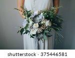 bridal bouquet. wedding. the... | Shutterstock . vector #375446581