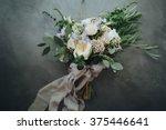 bridal bouquet. the bride's... | Shutterstock . vector #375446641
