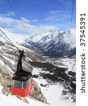 Gondola At Elbrus Mountain....