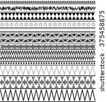 tribal seamless texture.... | Shutterstock .eps vector #375458875