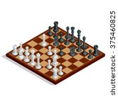 a chessboard is the type of... | Shutterstock .eps vector #375460825