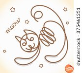 wire cat  | Shutterstock .eps vector #375461251