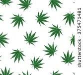 ganja leafs seamless vector... | Shutterstock .eps vector #375471481