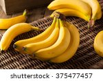Raw Organic Bunch Of Bananas...