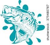 fish jumping vector | Shutterstock .eps vector #375480787