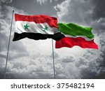 syria   tatarstan flags are... | Shutterstock . vector #375482194