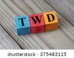 twd  taiwan new dollar  symbol... | Shutterstock . vector #375483115