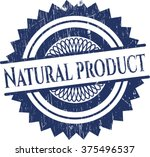natural product rubber stamp... | Shutterstock .eps vector #375496537