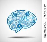 brain gear. ai artificial... | Shutterstock .eps vector #375497119