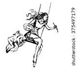 artist girl | Shutterstock .eps vector #375497179
