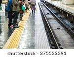 people who walk the platform of ... | Shutterstock . vector #375523291