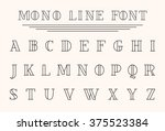 vector mono line decorative... | Shutterstock .eps vector #375523384