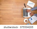 businessman working at office... | Shutterstock . vector #375534205