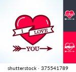 set of vector i love you... | Shutterstock .eps vector #375541789