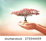 financial support concept ... | Shutterstock . vector #375544459