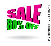 sign of sale 80  off. special... | Shutterstock .eps vector #375548044
