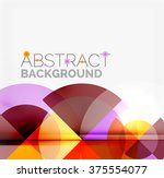 geometric design abstract... | Shutterstock .eps vector #375554077