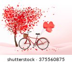valentine's day background with ... | Shutterstock . vector #375560875