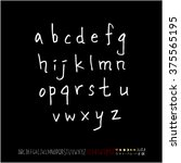 alphabet   number   handwriting ... | Shutterstock .eps vector #375565195