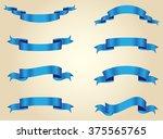 ribbon banner set.set of... | Shutterstock .eps vector #375565765