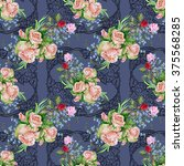 openwork frame graphic  bouquet ... | Shutterstock . vector #375568285