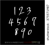 alphabet   number   handwriting ... | Shutterstock .eps vector #375571987