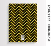 abstract black and yellow flyer ... | Shutterstock .eps vector #375578605