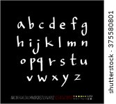 alphabet   number   handwriting ... | Shutterstock .eps vector #375580801