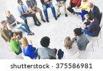 business team meeting... | Shutterstock . vector #375586981