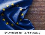 Flag Of Europe On Wood...