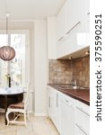 fancy interior of a kitchen | Shutterstock . vector #375590251