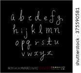 alphabet   number   handwriting ... | Shutterstock .eps vector #375590581