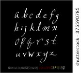 alphabet   number   handwriting ... | Shutterstock .eps vector #375590785