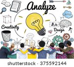 analysis analytics study... | Shutterstock . vector #375592144