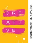beautiful flyer or invitation... | Shutterstock .eps vector #375592651