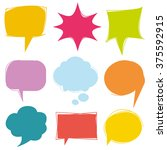 colorful speech bubbles  vector ... | Shutterstock .eps vector #375592915
