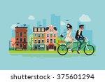 romantic vector concept... | Shutterstock .eps vector #375601294