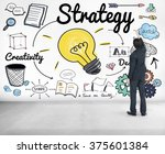 strategy ideas mission... | Shutterstock . vector #375601384